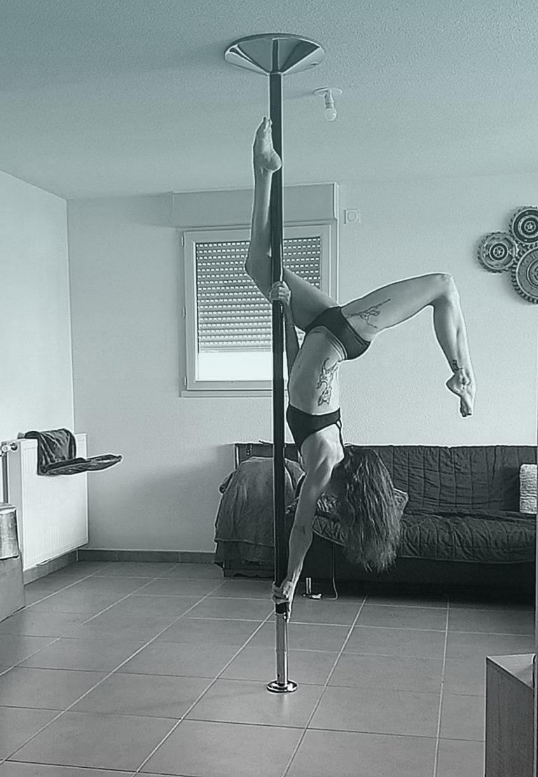 Butterfly pole dance