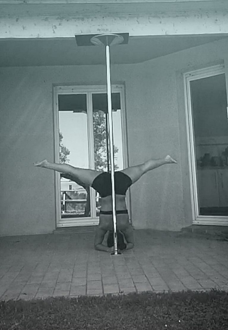 Handstand pole dance
