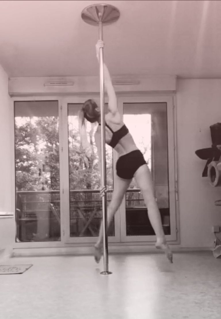 angel reversed pole dance